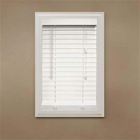 home decorators collection white 2 in faux wood blind 42 in length price varies by size