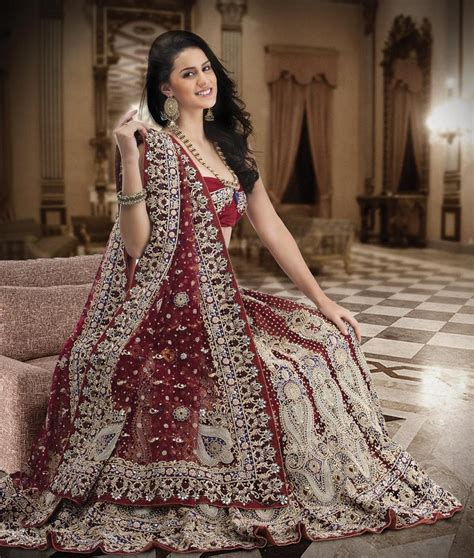 bridal hairstyles on ghagra hot latest indian bridal lehengas collections