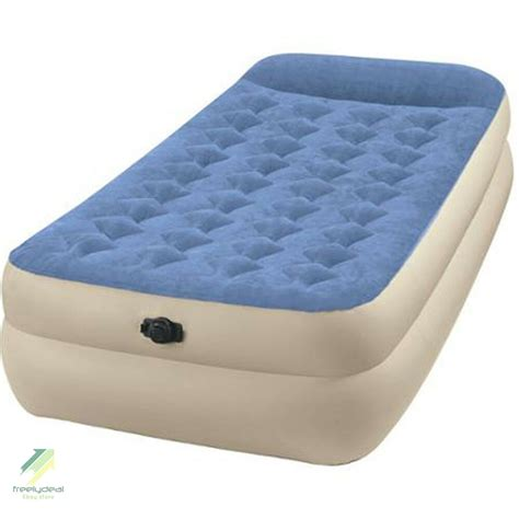 intex raised pillow rest airbed mattress cing guests spare air bed ebay