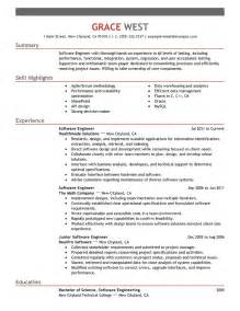 exles of resumes sle format resume exle basic