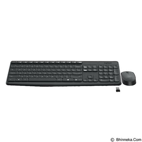 Logitech Wireless Mk235 Combo Keyboard Mouse Garansi Resmi jual logitech wireless combo mk235 920 007937 murah