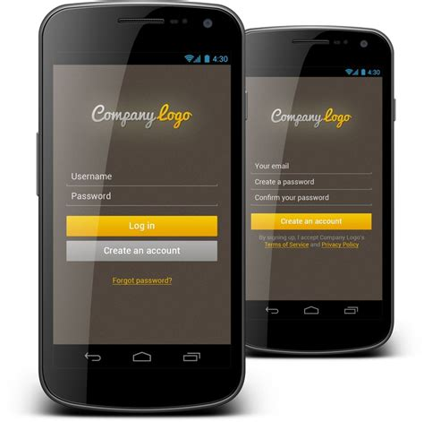 login mobile android login form we created android mobile login form cool colors make this android app