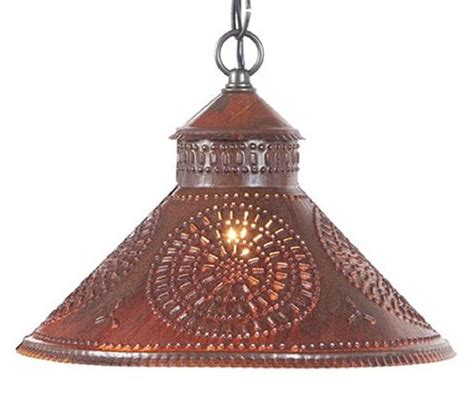 Punched Tin Pendant Light Chisel Patter Ceiling L In Tin Pendant Light