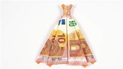 hochzeitskleid aus geld falten geld falten kleid hochzeitsgeschenk aus geldschein sel