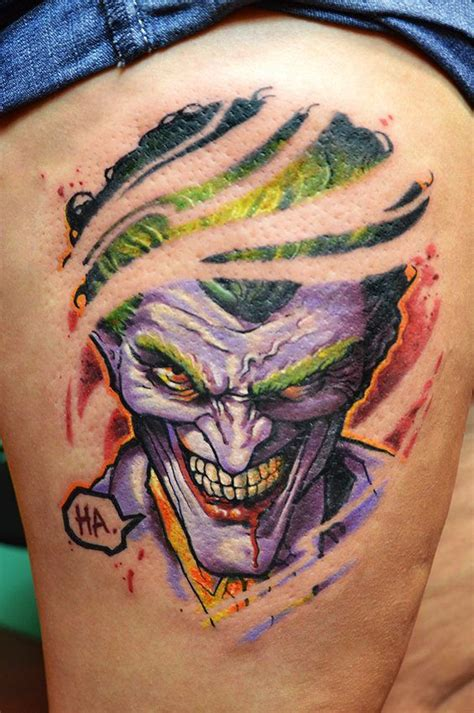 jokers tattoo and piercing calgary ripped joker batman pinterest joker hungarian