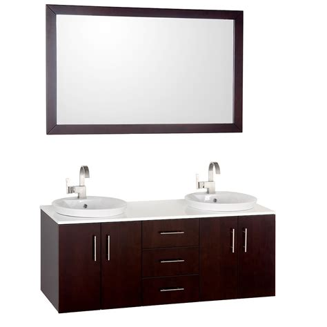 55 Quot Arrano Double Sink Vanity Bathgems Com 55 Bathroom Vanity