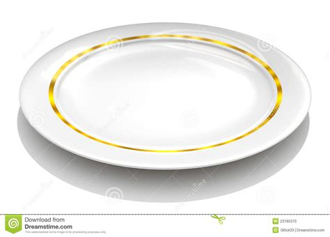 Bonia Ravit Gold Plat White white plate with gold stock illustration image of restaurant 23185370