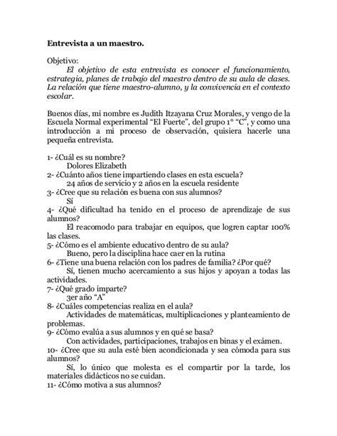 preguntas de matematicas para una entrevista de trabajo entrevista a un maestro