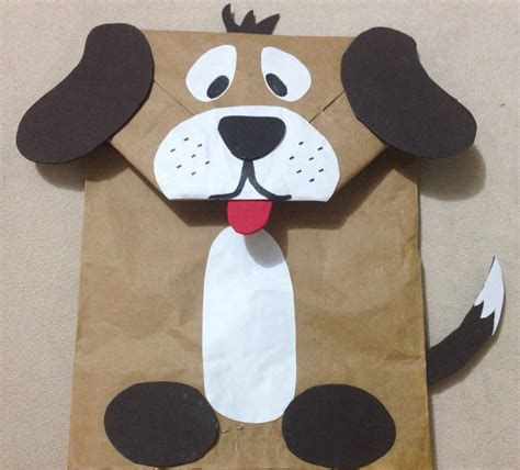 Brown Paper Bag Crafts For Preschoolers - puppet made from paper bag diy