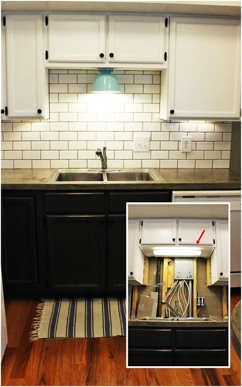 Cabinet Lights Kitchen Diy Kitchen Lighting Upgrade Led Cabinet Lights Above The Sink Light
