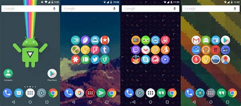 themes for clean ui launcher click ui icon pack v4 8 android themes live