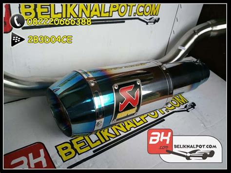 Knalpot Racing Akrapovic Half For Cb 150 R Lama harga knalpot racing mx king akrapovic lorenzo gp half
