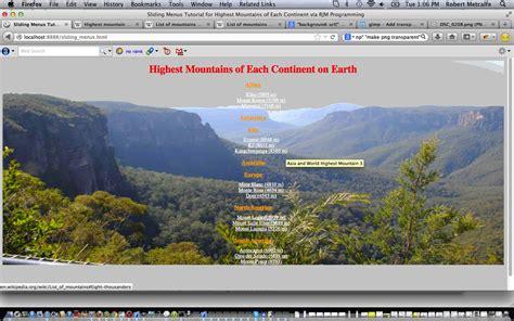 video tutorial html css javascript html css javascript sliding menus primer tutorial robert