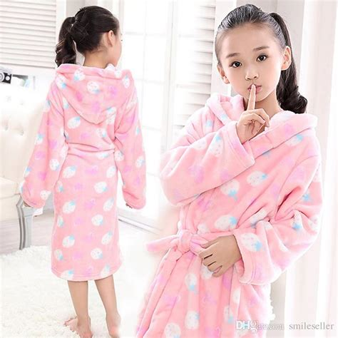 Superior Christmas Baby Pajamas #3: New-girls-bath-robe-soft-flannel-kids-sleepwear.jpg