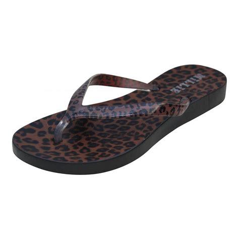 leopard sandals flat millie white pink brown leopard print toe post flip flops