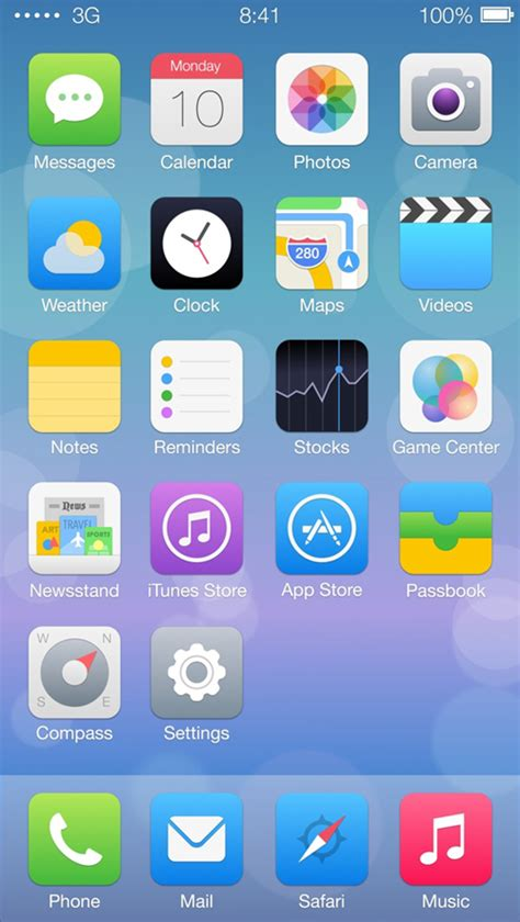 home screen icon design ios7 redesign concepts inspiration graphic design junction