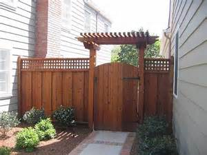 Pergola Over Gate by Gate Arbor Pictures Good Neighbor Fence With Lattice And