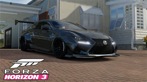 widebody cars forza horizon forza horizon 3 car customization widebody lexus rc f