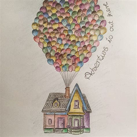 up house by mendivant on disney up house drawing www imgkid the image kid has it