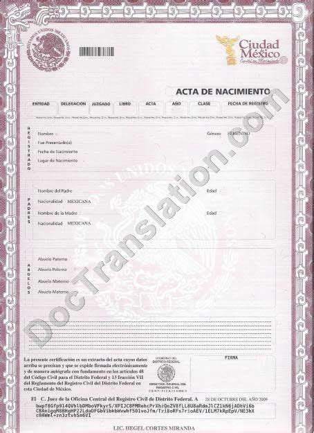 Mexican Birth Certificate Mexican Birth Certificate Forklift Certification Paperpopsicles Com Mexican Certificate Template
