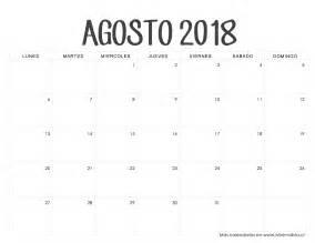 Calendario 2018 Agosto Calendarios 2018 Para Imprimir Minimalista