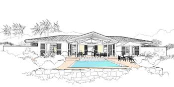 mcm design minimum island house plan mcm design minimum island house plan