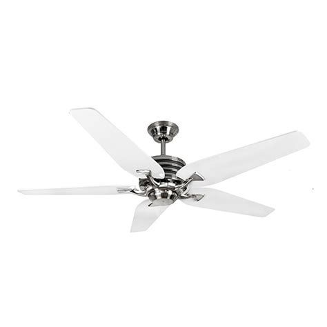 nickel ceiling fan with white blades fantasia omega cs 52 inch remote brushed nickel