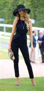 One woman opted for a modern take on the dress code with a chic black