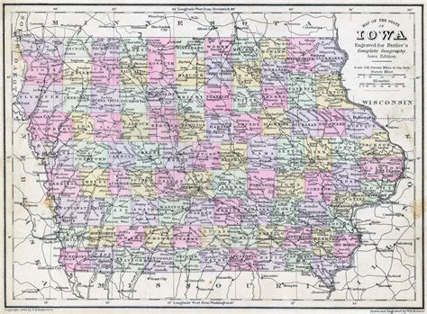 detailed map of iowa driving map of iowa state pictures to pin on