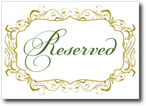 Signatures By Sarah Wedding Signs For Britta Reserved Table Sign Template