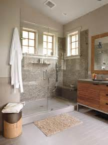 Relaxing gray and brown master bathroom myhomeideas com