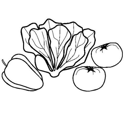 imagenes para pintar verduras dibujo de verduras 1 para colorear dibujos net