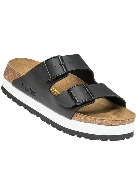platform birkenstock sandals birkenstock arizona platform sandals in black lyst