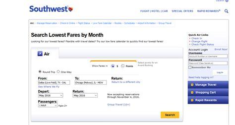 Fare Calendar Southwest Airlines Low Fare Calendar 2016 Calendar