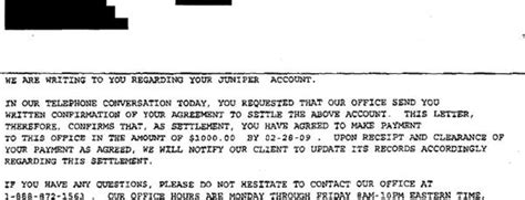 Banks That Offer Letters Of Credit juniper bank sle debt settlement offer letter leave