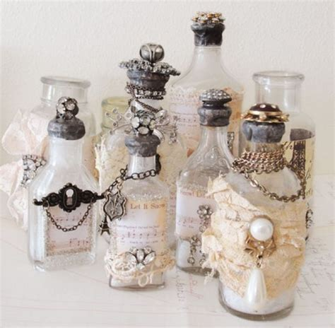home made decoration pieces recycled perfume bottles decoration pieces recycled things