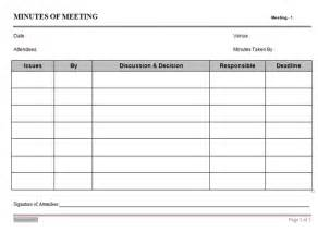 Minutes Of Meeting Template by Oriented Minutes Of Meeting Template