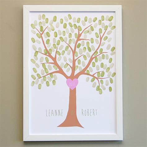 printable tree poster love heart fingerprint tree poster by love those prints
