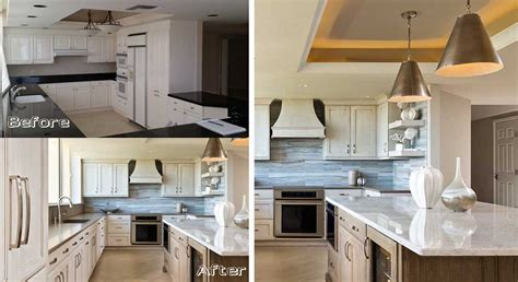 st raphael at pelican bay before after naples kitchen