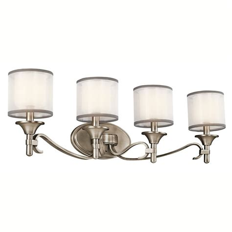 kichler bathroom vanity lighting shop kichler lighting 4 light lacey antique pewter