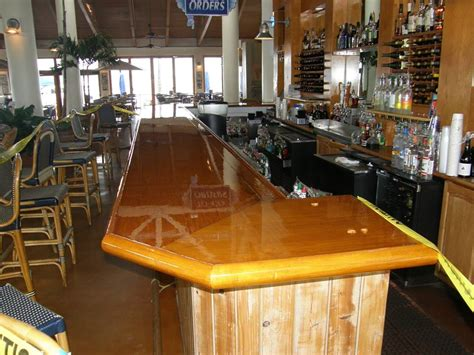Bar Tops by Palm Florida Brightwork Specialists Bar Top Varnish