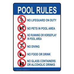 pool spa water safety pool rules signs