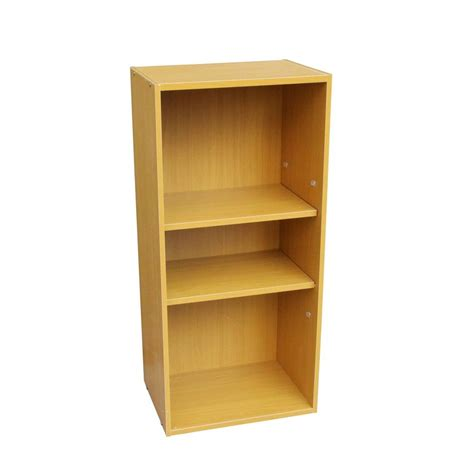 ore international beige adjustable open bookcase jw 196