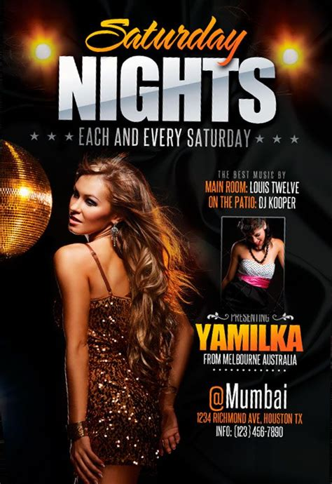 free templates for nightclub flyers free saturday nights flyer template free pinterest