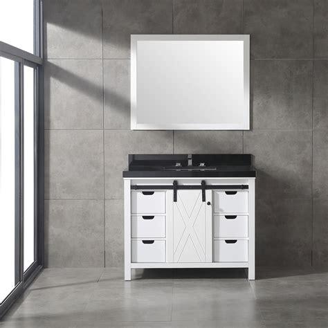 dallas bathroom vanities eviva dallas 42 in white bathroom vanity with absolute