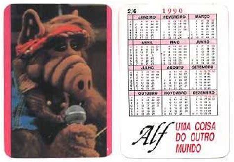 Calendario De 1990 Coisas Do Antigamente Calend 225 Alf 1990
