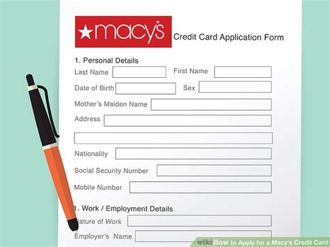 how to apply for a service how to apply for a macy s credit card 13 steps with pictures