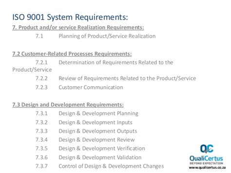 service certification requirements what are the requirements for iso 9001 certification
