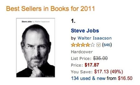 biography of steve jobs book name steve jobs bio now best selling book of 2011 on amazon