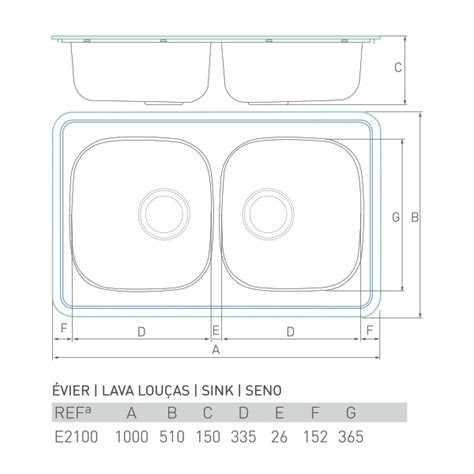 Evier 100 X 50 by 201 Vier Inox 224 Encastrer Aquarium 2 Bacs 100 X 50 Brico
